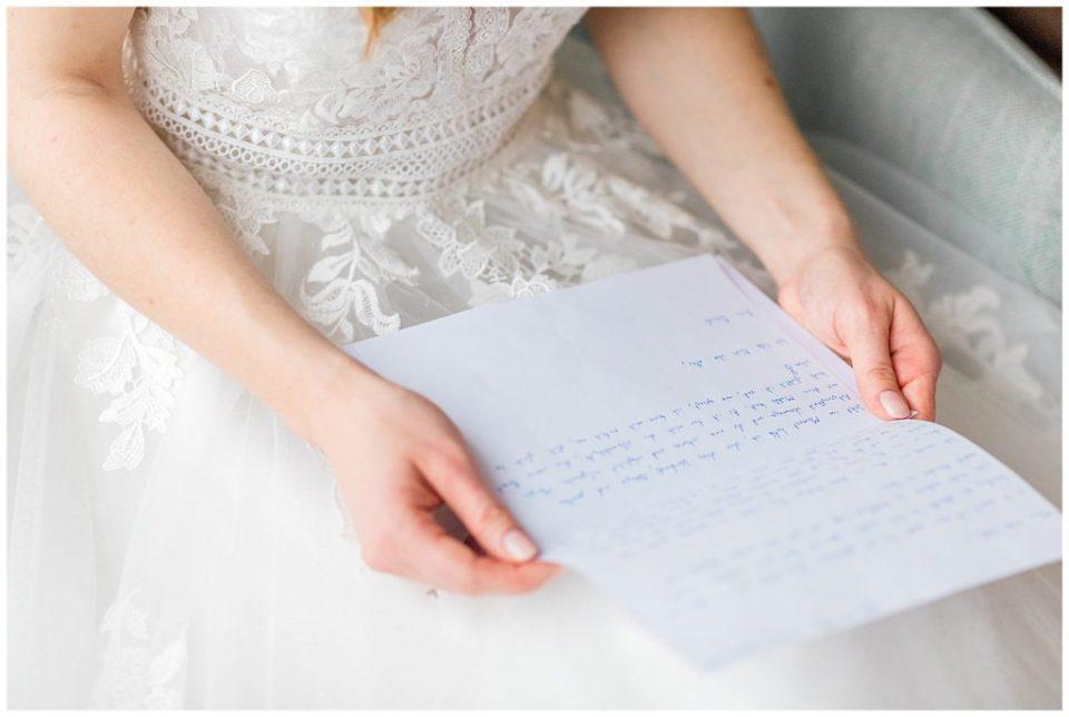 billede af brudens bryllupsforberedelser