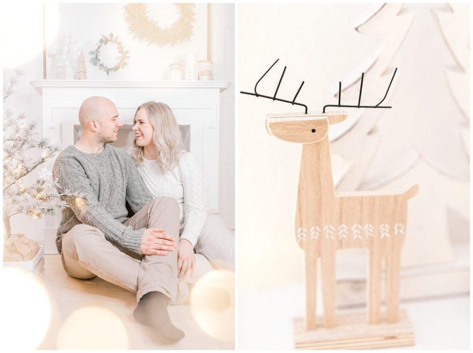 vores jul og familiebilleder ved juletræet