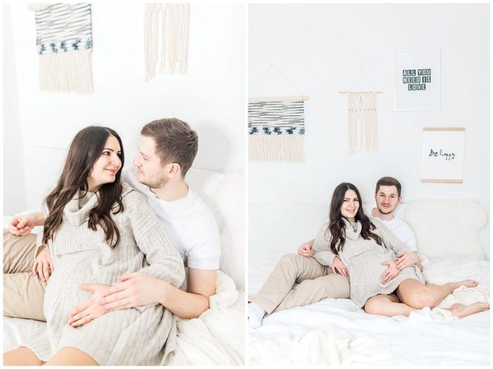 graviditetsbilleder indendørs af bryllupsfotograf jeanette merstrand