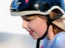 Roller blading child