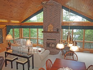 A great room with a western lake view