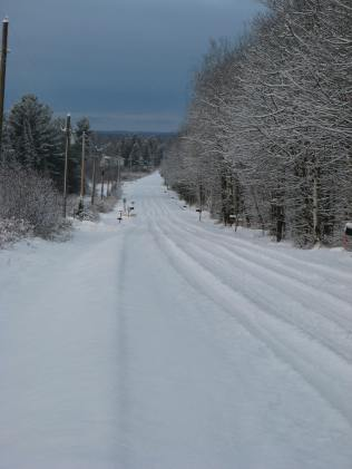Wester Avenue prior to snowplow visitation.