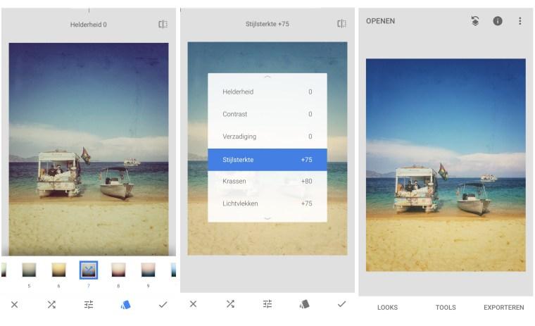 snapseed, tools, smartphone fotografie
