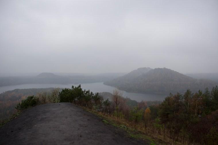 Panorama uitzicht Lange terril Connecterra