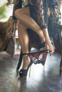 Taking of sexy panties