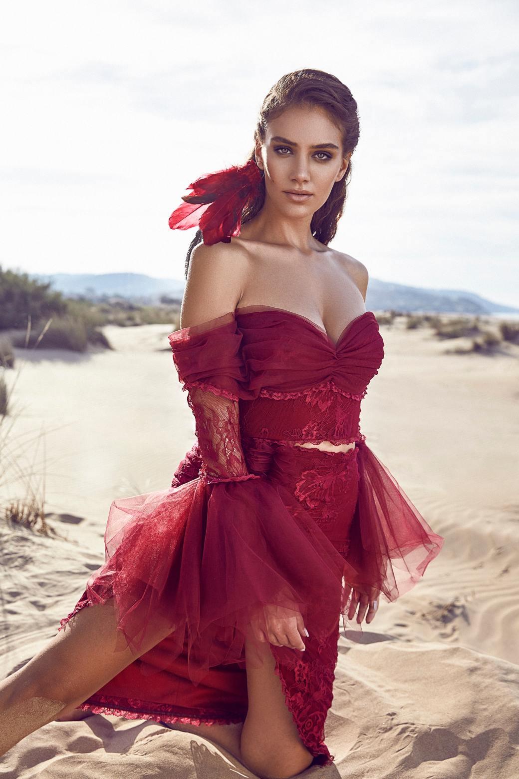 sexy redccorset dress