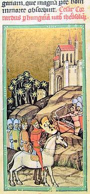 Conrad III et son armée en Hongrie