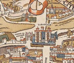 Plan de Paris vers 1550 porte St-Antoine