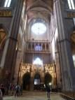 Bras sud du transept avec l'ancien jubé déplacé sur le côté