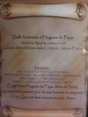 Dalle funéraire de l'abbé Hugues de Faye