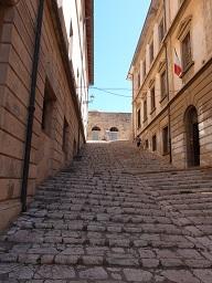 Escaliers d'accès à la Palazzina dei Mulini