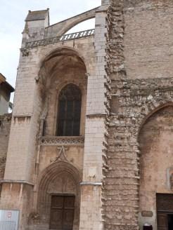 Façade latérale gauche de la basilique