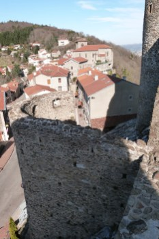 Le village de Rochetaillée vu du château