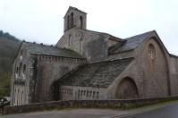 Abbaye de Sylvanès façade latérale nord chevet côté choeur
