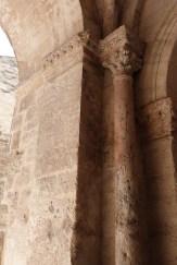 Porche d'entrée latéral - colonnes