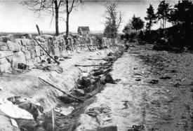 Le mur de Marye's Heights après la bataille