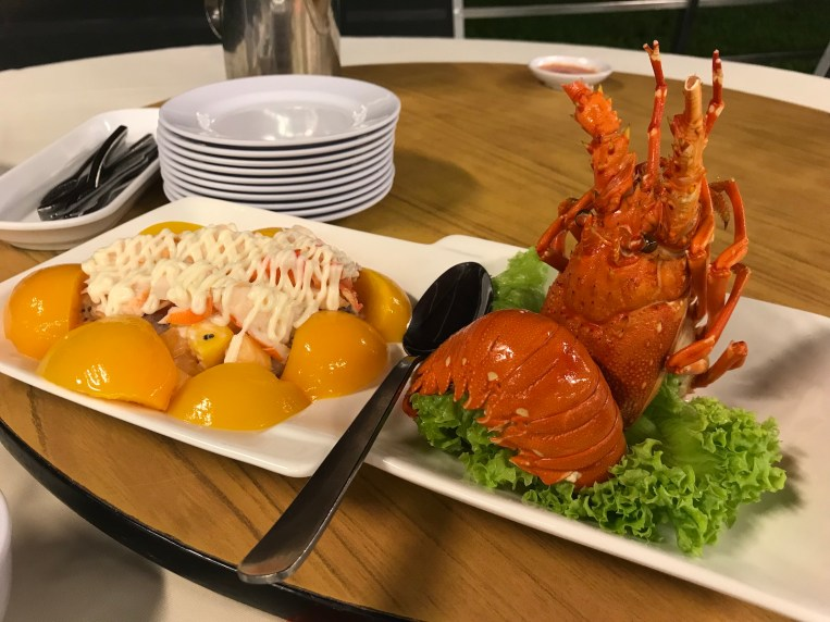 Lobster salad at Jumbo ECP