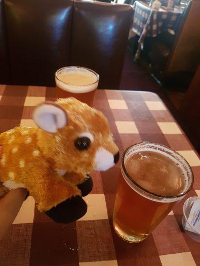 Beer drinking deer
