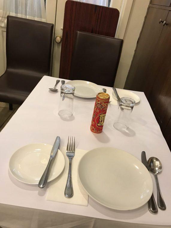 Portuguese cuisine at Escada - table setting