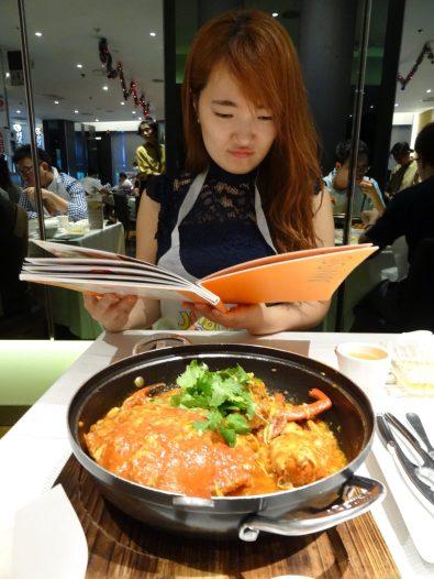again seriously reading chili crab menu