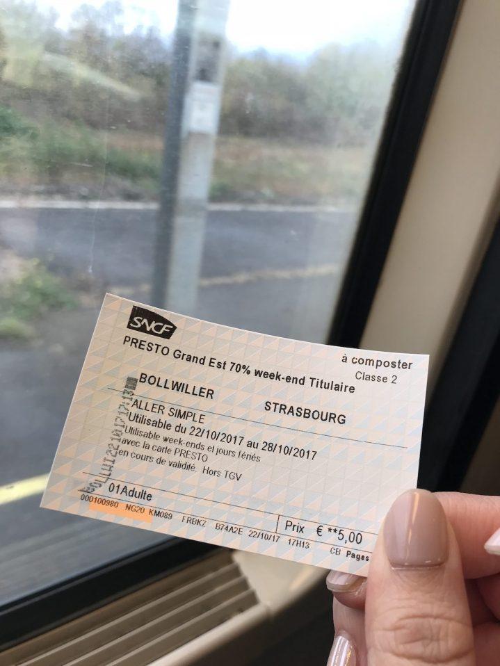 Wittelsheim to Strasbourg, no delay.