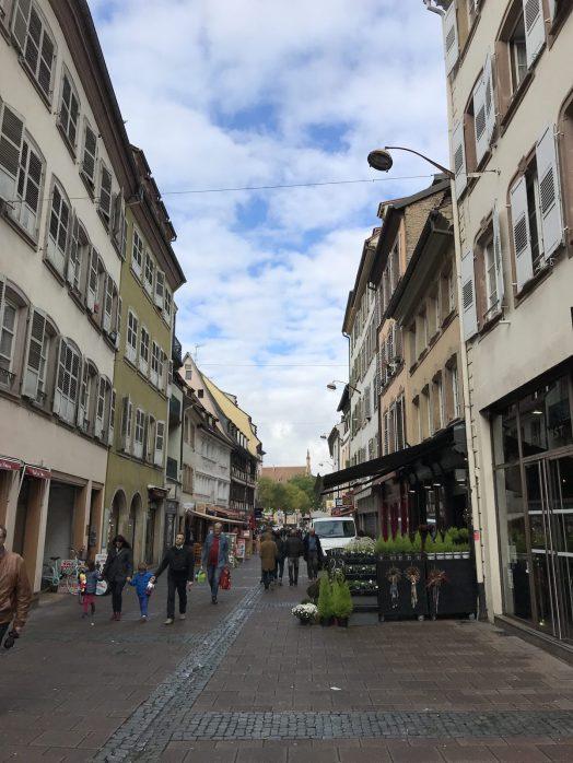 Shops at square in Strasbourg
