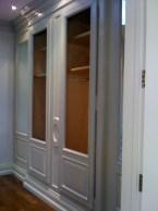 Patina glaze on built in closets