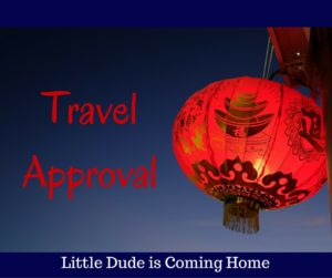 China travel approval