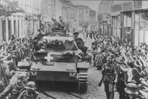 The Nazis roll into Poland in 1939.