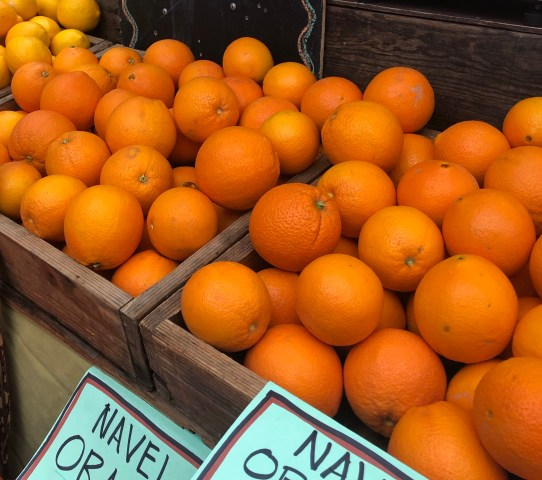 Navel oranges - photo by Jeanne Rose