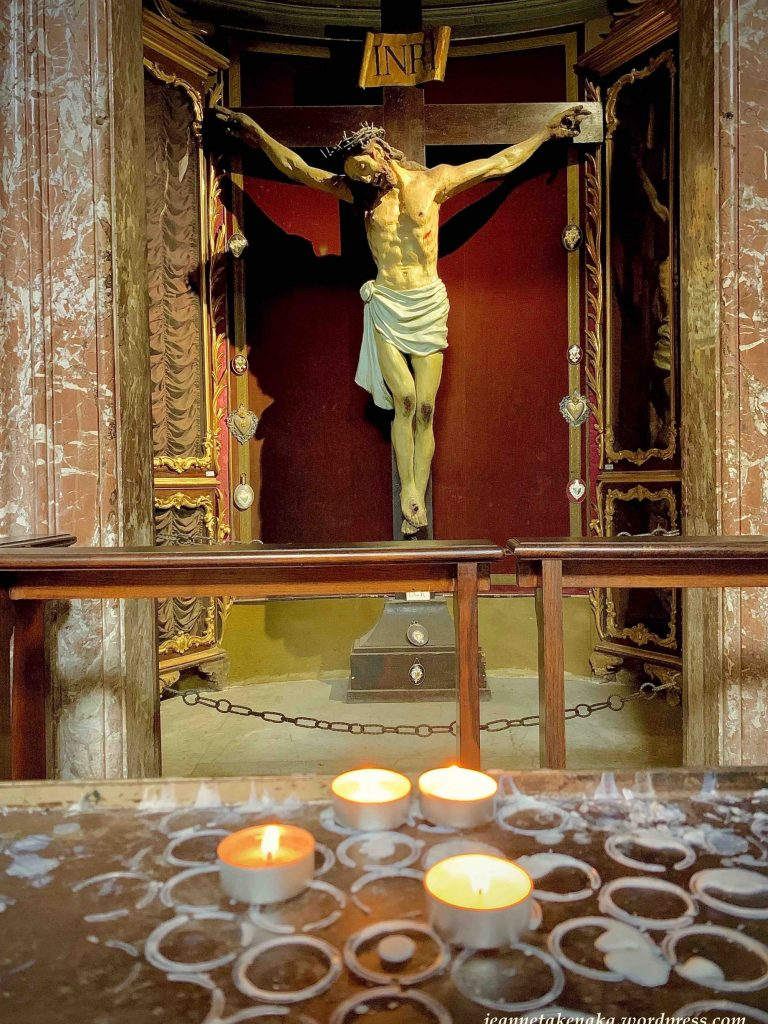 An image of Jesus hanging on the cross...a reminder that His crucifixion had to happen before His resurrection.