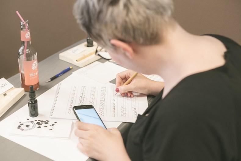 Kalligrafie, Kalligraphie, Handlettering, Lettering, Kurs, Workshop, Feder, Tusche