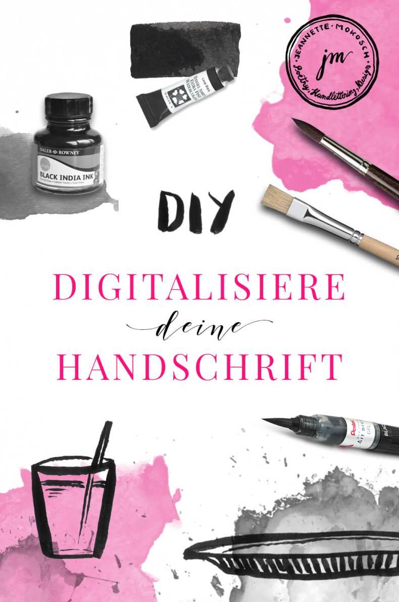 Kostenloses Tutorial zum Digitalisieren von Schrift in Adobe Photoshop Schrift Illustrator Handlettering Unterschrift Kalligraphie Füller Kugelschreiber