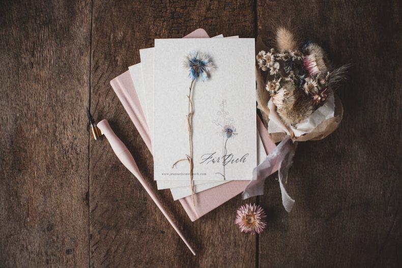 Postkarte Kalligraphie