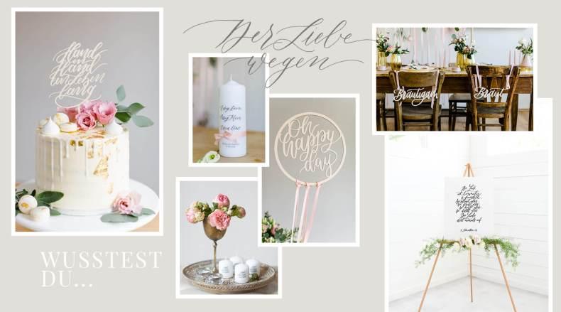 Hochzeitsdekoration Produkte Kalligrafie Lasercut Hochzeitskerze