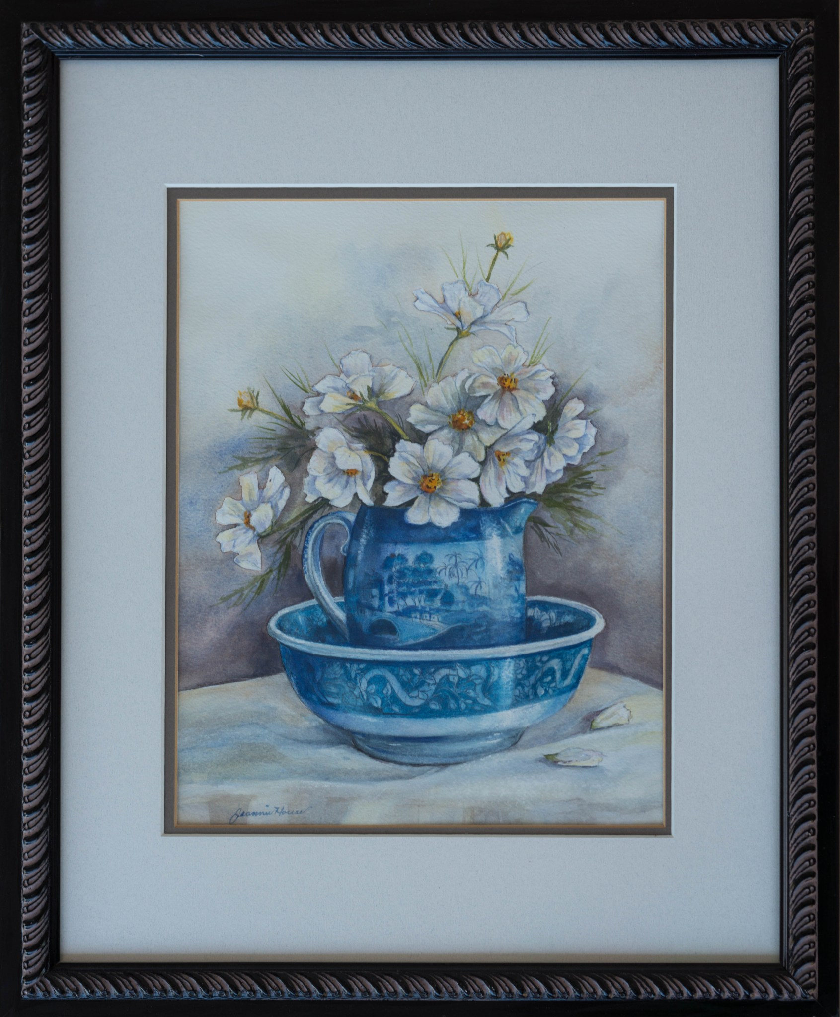 Blue Pitcher by Jeannie House