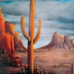 Light On Saguaro by Jeannie House