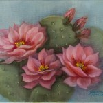 Pink Cactus by Jeannie House