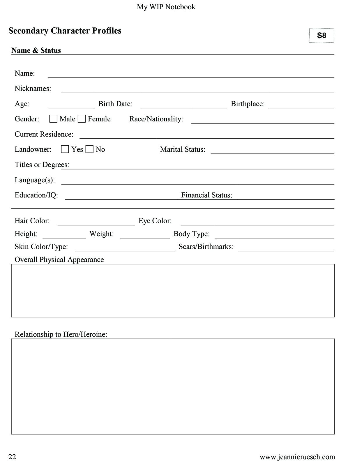 Work in Progress Notebook (PDF Printable Version)