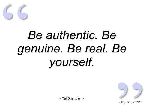 "49b8aac308 Have you ever read an article about marketing that said something along the  lines of ""Be Authentic"""