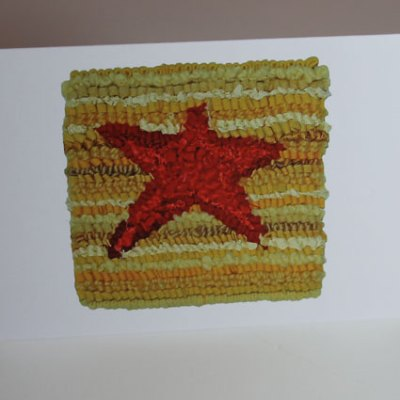 Red/Yellow Star Greeting Card