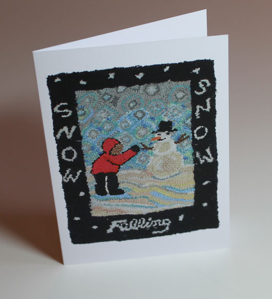 Snow Falling Greeting Card