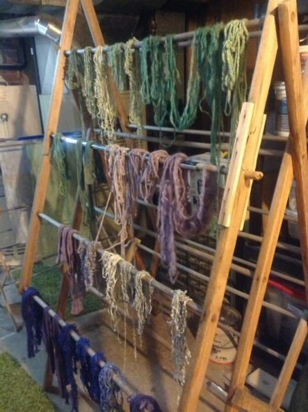Drying dyed yarn