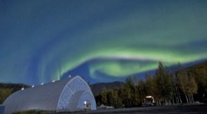 Aurora over Ice Museum