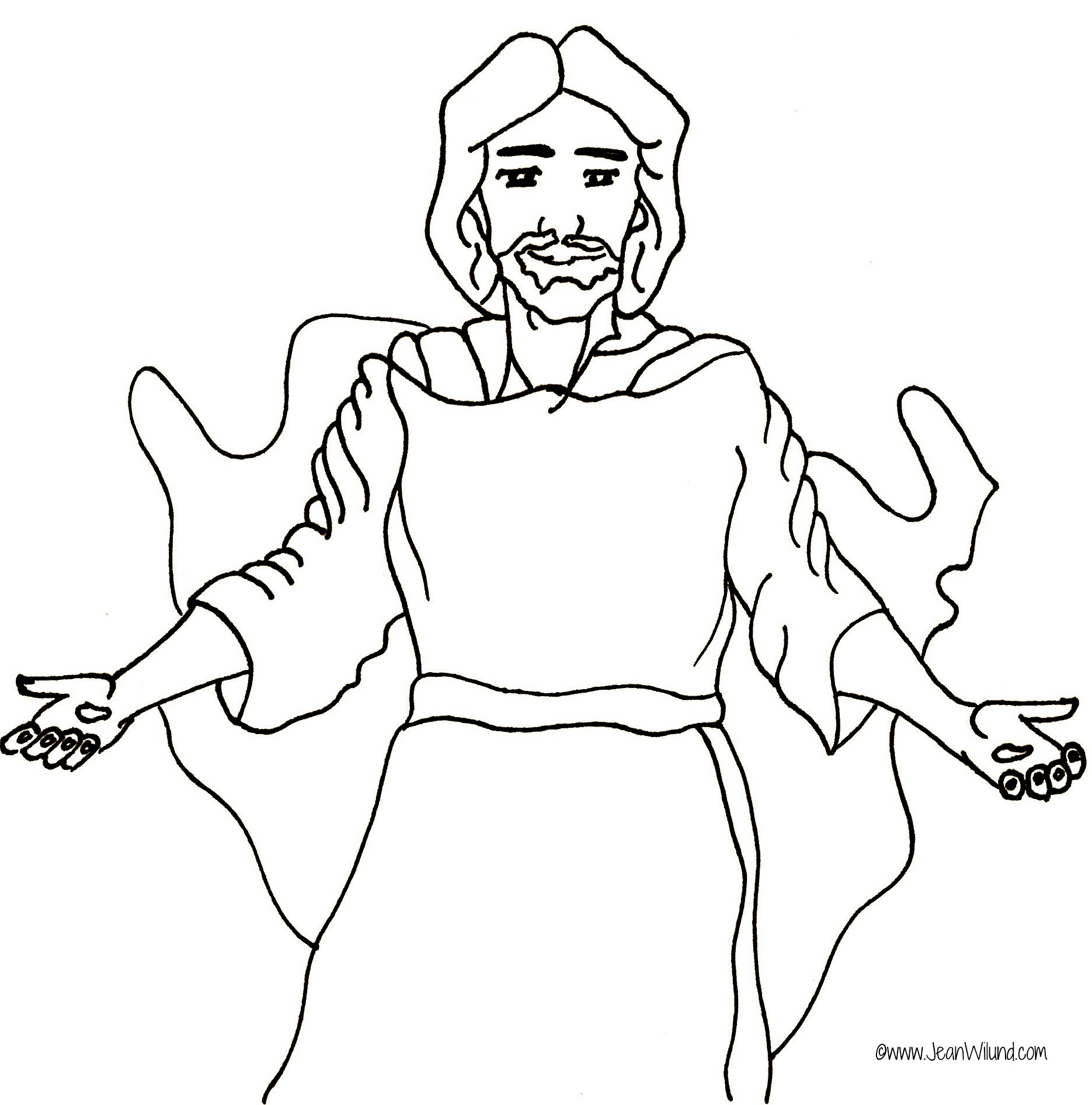 Jesus Walks With Me Rhyme Jesus Coloring Page Jean S Wilund