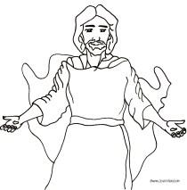 "Free ""Jesus Walks With Me"" rhyme coloring page pdf"