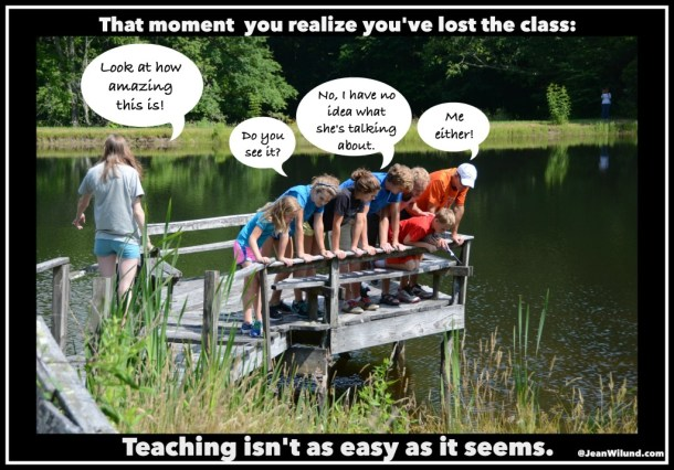 If only the class could see what you see? Teaching isn't as easy as it seems.