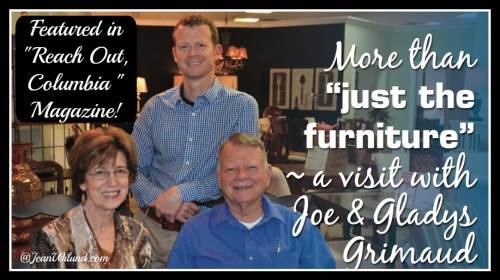 """Click to read about Joe & Gladys Grimaud featured in January 2015 """"Reach Out Columbia"""" magazine. An inspiring story of God, Family & Country"""