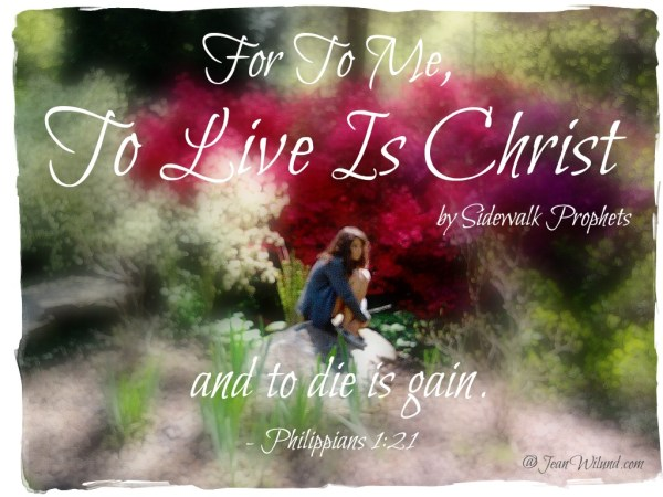 """Music Video """"To Live is Christ"""" by Sidewalk Prophets. (www.jeanwilund.com)"""