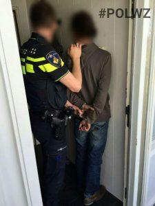 Melding viia de buurtapp resulteerde een op heterdaadje door de politie
